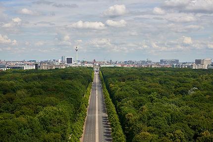 Route vers AlexanderPlatz, dans le parc de Berlin