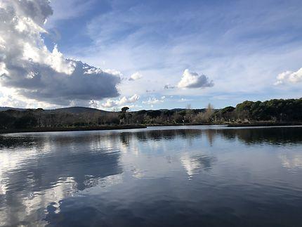 Fin de journée sur les étangs de Villepey