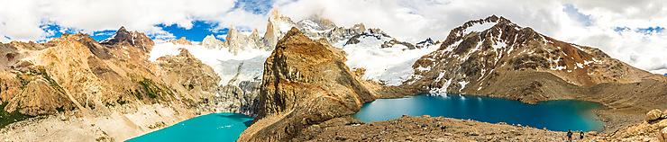 Panorama Lagunas de Los Tres et Suica