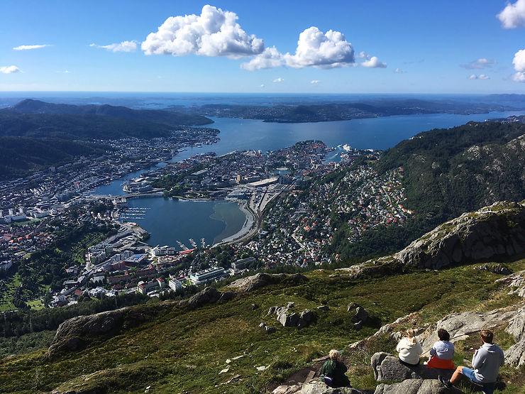 Bergen vu d'en haut : randonnées en pleine nature
