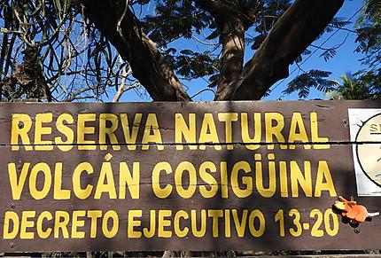 Entrée du parc du volcan Cosigüina