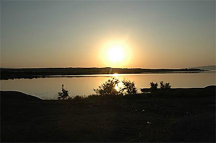 Couché de soleil au nord de Ganjha