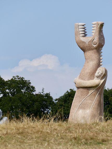 Statues de géants de granit Vallée des Saints