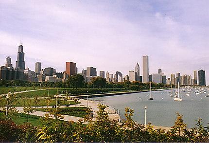 Chicago au bord du lac Michigan