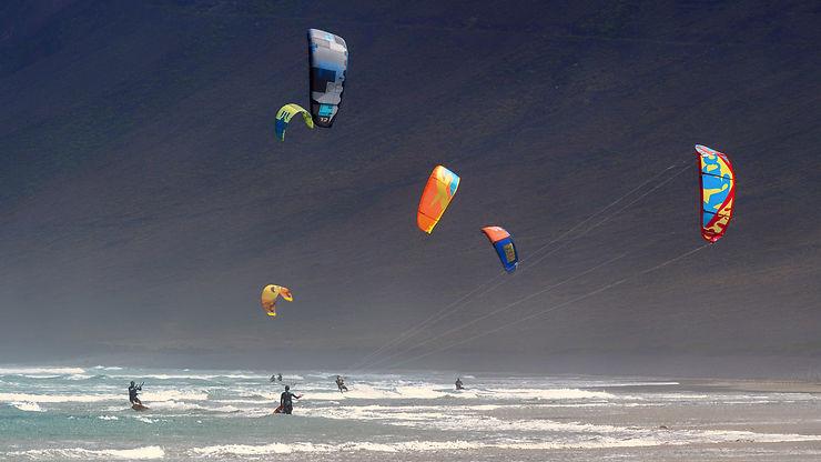 Kite sur la Playa de las Conchas, Lanzarote
