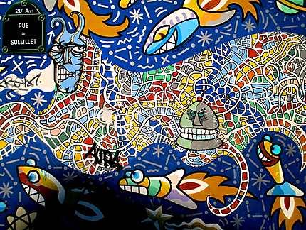Peinture Murale Street Art 20ème Arrondissement Paris