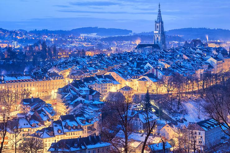 Marchés de Noël à Berne : verre soufflé et vin chaud