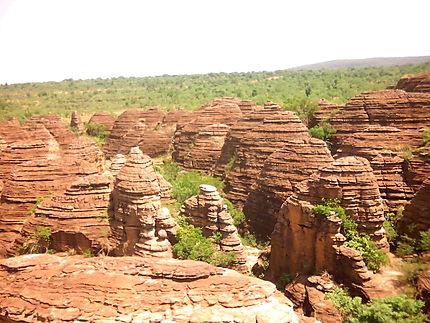 Les dômes près de Banfora