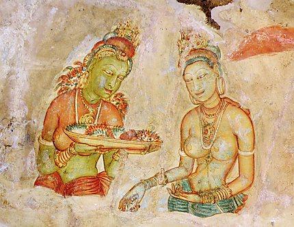 Fresque des Demoiselles de Sigirya