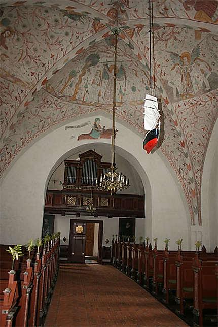 Intérieur de l'église de Keldby