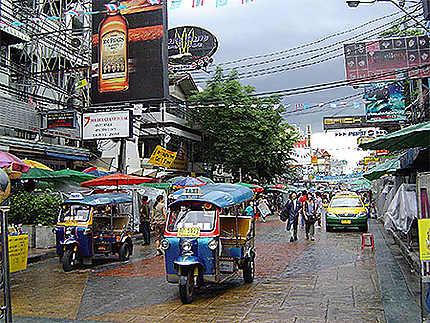 Khao San Road après la pluie