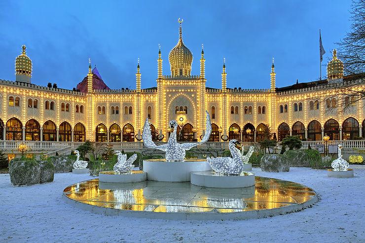 Noël à Tivoli, Copenhague :  fête foraine et manèges