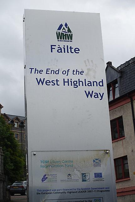Arrivée West Highland Way - Fort William