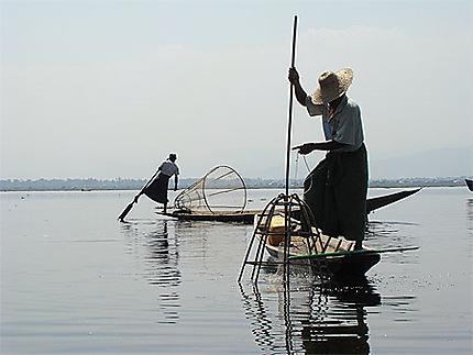 Pécheurs sur le Lac Inlé