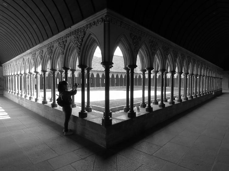 Cloître au Mont Saint Michel, Normandie