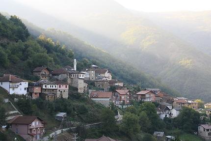 Lever du soleil à Jance, Macédoine