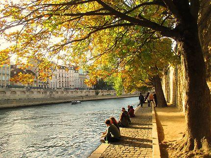 Les berges de la Seine en automne