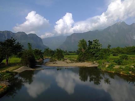 Paysage vers Vang Vieng