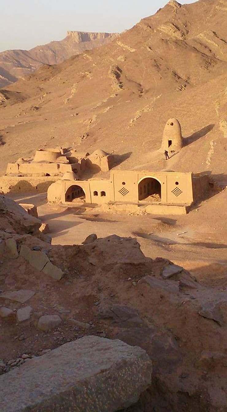 Coucher de soleil sur le magnifique site de Cham, Iran