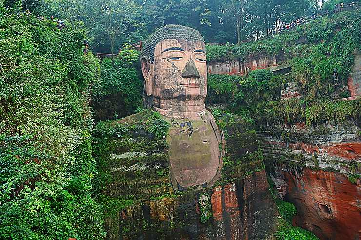 Le Grand Bouddha de Leshan, Chine