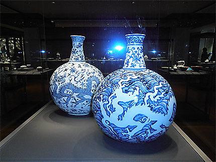 Porcelaine chinoise bleue et blanche