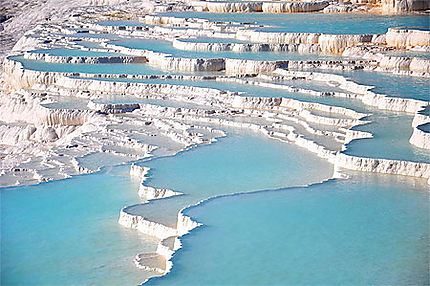 Amazing view on the site of Pamukkale