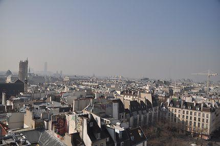 Vue depuis le centre Pompidou (Beaubourg)