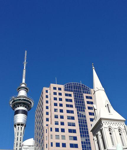 Par-dessus les toits à Auckland