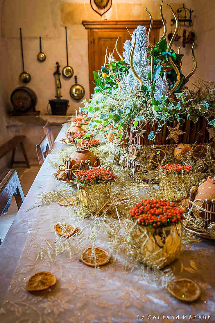 Table festive au château de Chenonceau