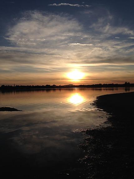 Coucher de soleil sur le Lac de Constance