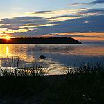 Baie Quarry au soleil couchant