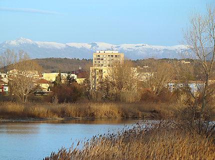 Cité de Cabiac sur fond de neige à Montélimar