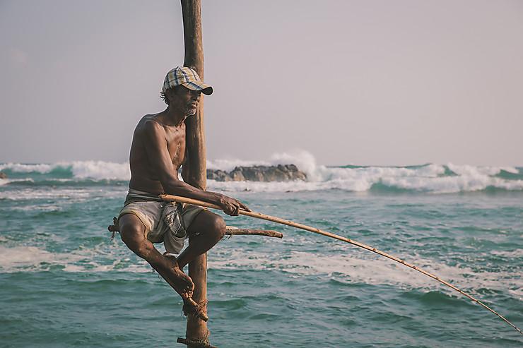 Pêche sur échasses