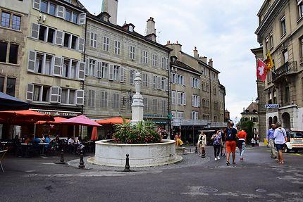 Fontaine de la vieille ville de Genève