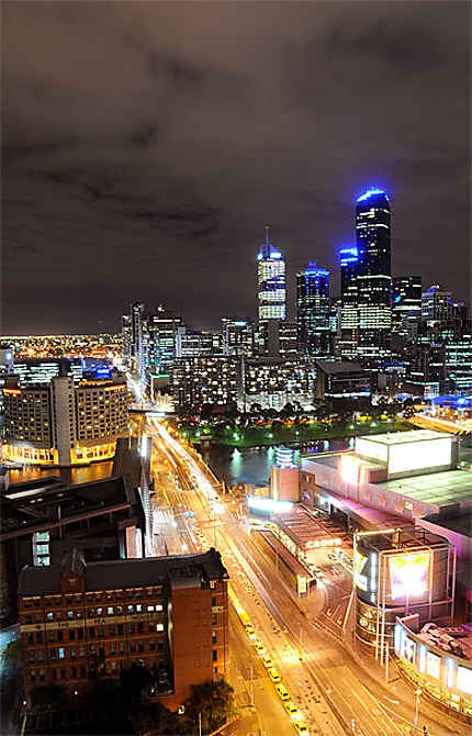 Melbourne City view on the night
