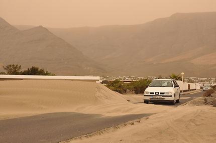 Route en péril à Lanzarote