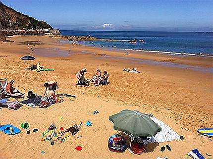 Les Anglais à la plage