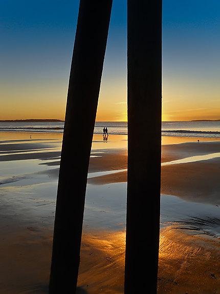 Le matin sur la plage