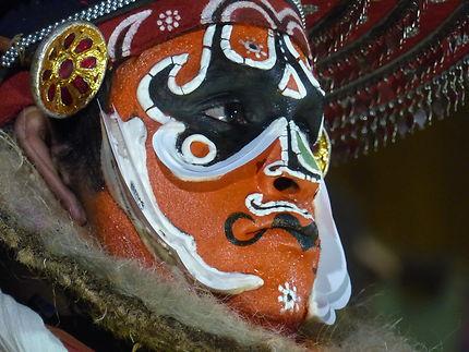 Acteur de Kathakali à Kochi