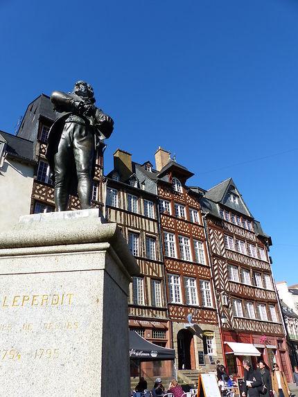 La statue de Jean Leperdit Maire de Rennes en 1794