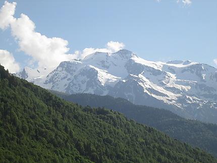 Beau paysage de Svanétie