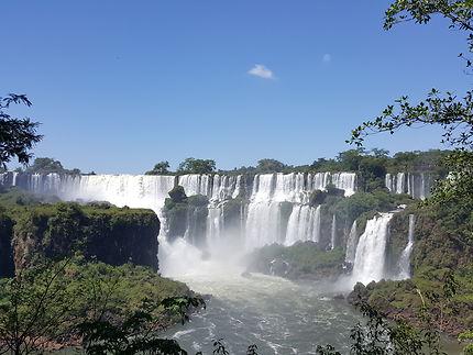 Impressionnantes chutes d'Iguaçu