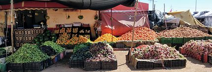 Marché à Boujdour, Maroc