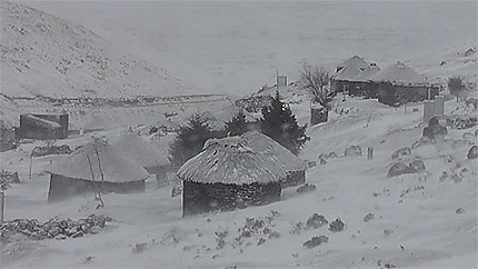 Lesotho, le royaume sous la neige