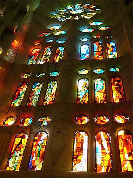 Vitrail de la Sagrada Familia