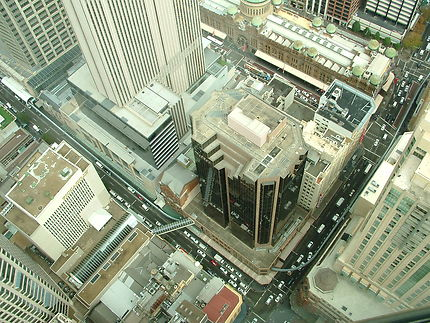 Rues de Sydney depuis Sydney Tower