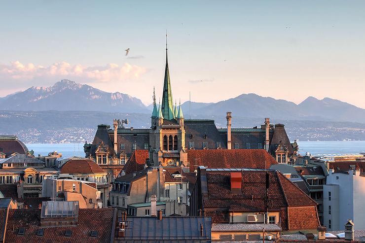 Lausanne en train - Suisse