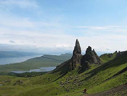 Menhir sur l'île de Sky