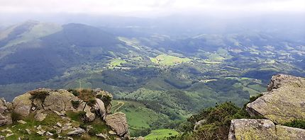 Vallée depuis la Rhune