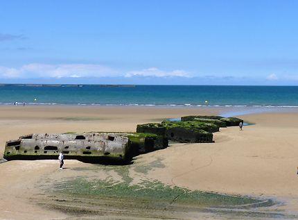 Arromanches, plage du débarquement